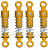 Wltoys 18428-B Front and Rear Shock Absorbers(Total 4pcs)-Orange,Wltoys 18428-B RC Car Spare Parts Replacement Accessories,1:18 Scale 4wd,2.4G 18428-B RC racing car Parts,On Road Drift Racing Truck Car Parts