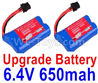 Wltoys 18628 Upgrade Lipo Batteries Pack,Upgrade 6.4V 800mAh Battery(2pcs)18628-0679,Wltoys 18628 Mods,Wltoys 18628 RC Crawler Car Spare Parts Replacement Accessories,1:18 18628 6wd rc rock racing car Parts,On Road Drift Racing Truck Car Parts