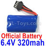 Wltoys 18629 battery Packs,6.4V 320mAh Battery(1pcs)-18629-0679
