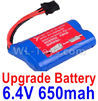 Wltoys 18629 Upgrade Battery Pack,6.4V 650mAh Battery(1pcs)-18629-0679