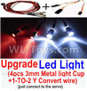 Wltoys 20402 0656 Upgrade LED Light set(Include the Upgrade LED light and 1-TO-2 Conversion wire),1/20 Wltoys 20402 RC Car Spare Parts Replacement Accessories
