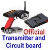Wltoys A232 A242 A252 Official Transmitter & Official Circuit board,Wltoys A232 A242 A252 1/24 rc Drift Car Parts desert Off Road Buggy parts