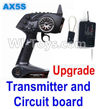 Wltoys A202 A212 A222 Upgrade AX5S Transmitter(With Speed Limit function,0-200M control) & Upgrade Circuit board