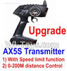 Wltoys A202 A212 A222 Upgrade AX5S Transmitter(With Speed Limit function,0-200M control)