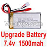 Wltoys A949 Upgrade Battery Pack,Upgrade 1500mah battery,Wltoys A949 RC Car Parts ,Wltoys 1/18 rc Truck and rc racing car Replace Parts