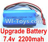 Wltoys A949 Upgrade Lipo Batteries,7.4v 2200mah battery,Wltoys A949 RC Car Parts ,Wltoys 1/18 rc Truck and rc racing car Replace Parts