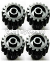 Wltoys A949 Upgrade motor Gear(4pcs)-0.7 Modulus-Black,Wltoys A949 RC Car Parts ,Wltoys 1/18 rc Truck and rc racing car Replace Parts