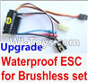 Wltoys A949 Upgrade waterproof ESC for the Brushless set,Wltoys A949 RC Car Parts ,Wltoys 1/18 rc Truck and rc racing car Replace Parts
