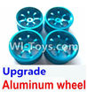 Wltoys A949 Upgrade Aluminum wheel(4pcs-Not include the Tire leather),Wltoys A949 RC Car Parts ,Wltoys 1/18 rc Truck and rc racing car Replace Parts