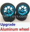 Wltoys A959B A959-B Upgrade Aluminum wheel(4pcs-Include the Tire leather,Also include the 7mm-to-12mm converter) Parts,Wltoys A959B A959-B Parts
