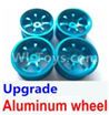 Wltoys A959B A959-B Upgrade Aluminum wheel(4pcs-Not include the Tire leather) Parts,Wltoys A959B A959-B Parts