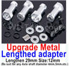 Wltoys A959B A959-B Upgrade Metal Lengthed adapter(4 set)-Lengthen 29mm-Silver,Wltoys A959B A959-B Parts