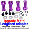 Wltoys A959B A959-B Upgrade Metal Lengthed adapter(4 set)-Lengthen 29mm-Purple,Wltoys A959B A959-B Parts
