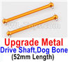 Wltoys A979-B Upgrade Metal Drive Shaft,Dog Bone(2pcs)-Yellow,Wltoys A979-B Rc Car Truck Spare Parts,High speed 1:18 Scale 4wd,2.4G A979-B rc racing car Spare Parts Accessories,On Road Drift Racing Truck Car Parts