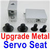 Wltoys A959 Upgrade Metal Servo Seat Parts-Silver,