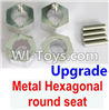 Wltoys A959 Upgrade Metal Hexagonal round seat(4pcs)(4pcs)-Silver Parts,(Both for A959 A959B)