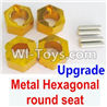 Wltoys A959 Upgrade Metal Hexagonal round seat(4pcs)(4pcs)-Yellow Parts,(Both for A959 A959B)