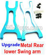 Wltoys A959 Upgrade Metal Rear lower Swing arm,Lower Suspension Arm(2pcs)-Blue Parts,(Both for A959 A959B)