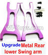 Wltoys A959 Upgrade Metal Rear lower Swing arm,Lower Suspension Arm(2pcs)-Purple Parts,(Both for A959 A959B)