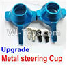 Wltoys A969 Parts-69 Upgrade Metal steering Cup-Blue For Wltoys A969 desert rc trunk parts,rc car and rc racing car Parts