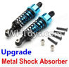 Wltoys A969 Parts-72 Upgrade Metal Shock Absorber(2pcs)-Blue For Wltoys A969 desert rc trunk parts,rc car and rc racing car Parts