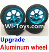 Wltoys A979-B Upgrade Aluminum wheel(4pcs-Include the Tire leather,4pcs 7mm-to-12mm Adapter) For Wltoys A979-B Rc Car Parts,High speed 1:18 Scale 4wd,2.4G A979-B rc racing car Parts,On Road Drift Racing Truck Car Parts