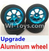 Wltoys K929-B Upgrade Aluminum wheel(4pcs-Include the Tire leather,4pcs 7mm-to-12mm Adapter)