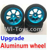 Wltoys K929 Upgrade Aluminum wheel(4pcs-Include the Tire leather),Wltoys K929 desert RC Truck Parts,1:18 rc car and rc racing car Parts