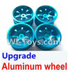 Wltoys K929 Upgrade Aluminum wheel(4pcs-Not include the Tire leather),Wltoys K929 desert RC Truck Parts,1:18 rc car and rc racing car Parts