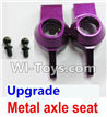 Wltoys K929 Upgrade Metal axle seat-Purple,Wltoys K929 desert RC Truck Parts,1:18 rc car and rc racing car Parts