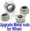 Wltoys K999 Upgrade Metal nuts for wheel(4pcs0,1:28 Wltoys K999 Rc Car Spare Parts Replacement accessories,K999 On Road Drift Racing Truck Car Parts