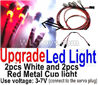 Wltoys K969 Upgrade LED light unit(Total 4pcs Light-2 Red and 2 White-voltage 3-7V),1:28 Wltoys K696 Rc Car Spare Parts Replacement accessories,K969 On Road Drift Racing Truck Car Parts