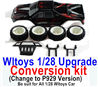 Wltoys K969 Upgrade Conversion kit-Upgrade P929 Version-Black color,Be suit for All Wltoys 1/28 Wltoys Car