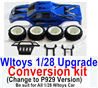 Wltoys K969 Upgrade Conversion kit-Upgrade P929 Version-Blue color,Be suit for All Wltoys 1/28 Wltoys Car
