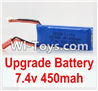 Wltoys K999 Upgrade Battery,7.4V 450MAH Battery For WLtoys K999 1:28 rc Drift Car Parts desert Off Road Buggy parts