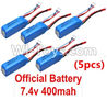 Wltoys P929 Battery,WLtoys 7.4V 400mAh(5pcs) For WLtoys P929 1:28 rc Drift Car Parts P929 RC desert Off Road Buggy parts