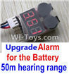 Wltoys P959 Upgrade Alarm for the Battery,Can test whether your battery has enouth power,Wltoys P959 RC Truck Car Spare Parts Replacement Accessories,1:10 Scale 4wd P959 RC Truck parts,RC Tractor Racing car Parts