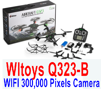Wltoys Q323-B RC Quadcopter (Include the Ordinary Wifi 300,000 Pixels Camera unit and Mobile phone support frame),Wltoys Q323 RC Quadcopter Drone Medium-Quadcopter-all FPV-Quadcopter-all Wltoys-Quadcopter-all