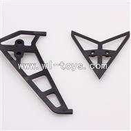 WLtoys V913 2.4G RC single Helicopter Parts,Horizontal and Vertical Tail 2pcs/set-12