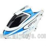 WL V911-02 Head Cover(blue&white) WLtoys V911 WL V911-1 RC Helicopter Spare Parts WL Toys rc model