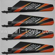 WL V911-06 Main blades(4pcs)-Orange WLtoys V911 WL V911-1 RC Helicopter Spare Parts WL Toys rc model