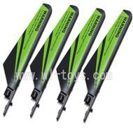WL V911-09 Main blades(4pcs)-Green WLtoys V911 WL V911-1 RC Helicopter Spare Parts WL Toys rc model