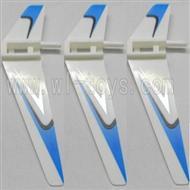 WL V911-17 Vertical wing (3pcs)-Blue WLtoys V911 WL V911-1 RC Helicopter Spare Parts WL Toys rc model