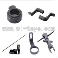 WL V911-46 Tail Boom Set with head & Main Blade Holder & (Fixing Collar & Centra axis & wheel) WLtoys V911-1 RC Helicopter Spare Parts