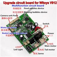 multi-functional upgrades receiver board / PCB for WLtoys V912 helicopter,Wl toys V912 RC Helicopter Parts