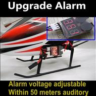 Lower voltage alarm for the li-battery to ensure timely return