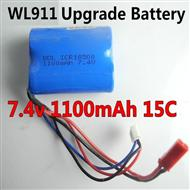 7.4v 1100mAH Battery wholesale(WLtoys WL911 Boat Upgrade Battery-7.4v 1100mAH battery 15c with Red JST plug)