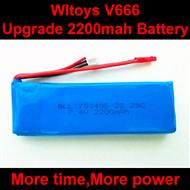 WLtoys V666 RC Quadcopter parts WL toys V666 Upgrade 2200mah battery akku