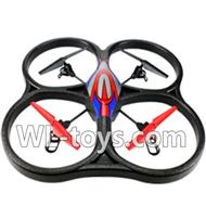 WLtoys V666 RC Quadcopter parts WL toys V666 parts-24 V666 Quadcopter BNF(Only Quadcopter Body ,No battery ,No transmitter,No charger)-Red&Blue