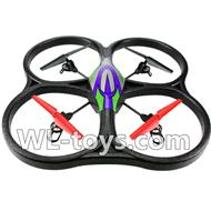 WLtoys V666 RC Quadcopter parts WL toys V666 parts-25 V666 Quadcopter BNF(Only Quadcopter Body ,No battery ,No transmitter,No charger)-Green&Purple